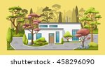 illustration of a modern family ... | Shutterstock .eps vector #458296090