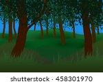 vector illustration. green... | Shutterstock .eps vector #458301970