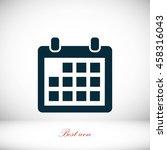 calendar icon | Shutterstock .eps vector #458316043