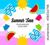 summer illustration. vacation... | Shutterstock .eps vector #458316748