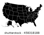 map of usa | Shutterstock .eps vector #458318188