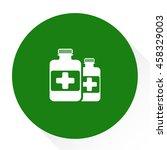 medicine bottle | Shutterstock .eps vector #458329003