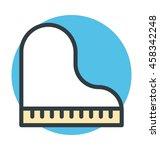 Grand Piano Colored Vector Icon
