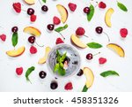 various types of fruits with... | Shutterstock . vector #458351326