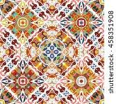 luxury oriental tile seamless... | Shutterstock .eps vector #458351908