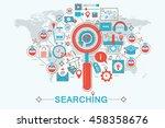 modern flat thin line design... | Shutterstock .eps vector #458358676