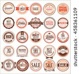 retro vintage badges and labels ... | Shutterstock .eps vector #458361109