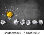 in search of great idea | Shutterstock . vector #458367010