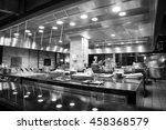 a modern kitchen in a hotel or... | Shutterstock . vector #458368579