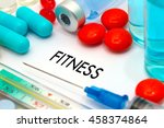 fitness. treatment and... | Shutterstock . vector #458374864