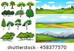 Nature Scenes With Fields And...