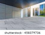 empty brick floor with modern... | Shutterstock . vector #458379736