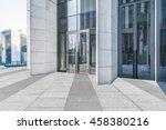 empty brick floor with modern... | Shutterstock . vector #458380216