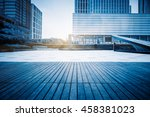 empty ground and office building | Shutterstock . vector #458381023