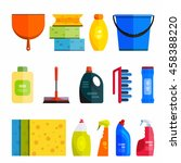 set of cleaning tools. flat... | Shutterstock . vector #458388220
