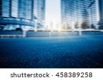 city road with moving traffic... | Shutterstock . vector #458389258
