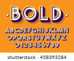vector of retro font and... | Shutterstock .eps vector #458393284