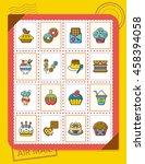 icon set dessert vector   Shutterstock .eps vector #458394058