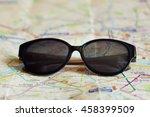 fashionable stylish sunglasses...   Shutterstock . vector #458399509