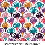 decorative vector seamless... | Shutterstock .eps vector #458400094
