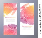 invitation with hand drawn... | Shutterstock .eps vector #458405878