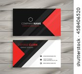 red black corporate business... | Shutterstock .eps vector #458406520