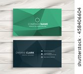 clean low poly business card... | Shutterstock .eps vector #458406604