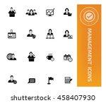 management  businessman icon... | Shutterstock .eps vector #458407930