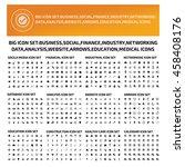 big iconset business social... | Shutterstock .eps vector #458408176