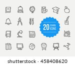 school icons set. education... | Shutterstock .eps vector #458408620