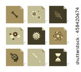 vector flat icons set   science ...   Shutterstock .eps vector #458420674