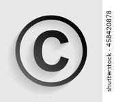 copyright sign illustration.... | Shutterstock .eps vector #458420878