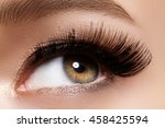 beautiful macro shot of female... | Shutterstock . vector #458425594