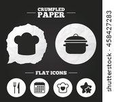 crumpled paper speech bubble.... | Shutterstock .eps vector #458427283