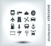 transport  icons  | Shutterstock .eps vector #458434048