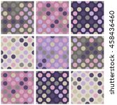 set of nine abstract colored...   Shutterstock .eps vector #458436460