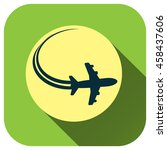 airplane sign icon. travel trip ... | Shutterstock .eps vector #458437606