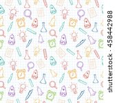back to school hand drawn... | Shutterstock .eps vector #458442988