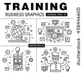 modern business training pack.... | Shutterstock .eps vector #458446600