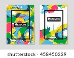 abstract vector layout... | Shutterstock .eps vector #458450239