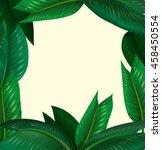 frame design with green leaves... | Shutterstock .eps vector #458450554