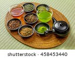 delicious japanese green tea set | Shutterstock . vector #458453440