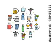 drink round design template...   Shutterstock .eps vector #458455936