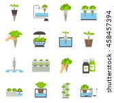 set of color flat icons... | Shutterstock .eps vector #458457394