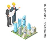 vector 3d isometric concept of... | Shutterstock .eps vector #458462170