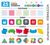 offer sale tags  textures and... | Shutterstock .eps vector #458462224