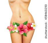 beautiful healthy slim naked... | Shutterstock .eps vector #458463250