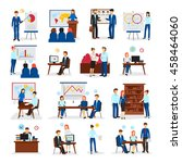 business training and... | Shutterstock .eps vector #458464060