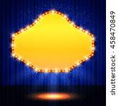 shining retro casino banner on... | Shutterstock .eps vector #458470849