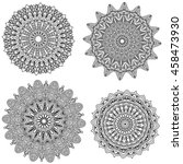 black mandala collection... | Shutterstock .eps vector #458473930